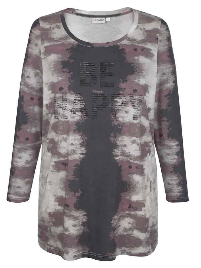 T-shirt long à effet batik mode