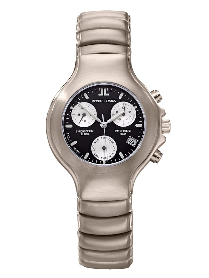 Jacques Lemans Damenuhr-Chronograph SERIE TITAN KOLLEKTION CLASSIC 1-901C, Grau