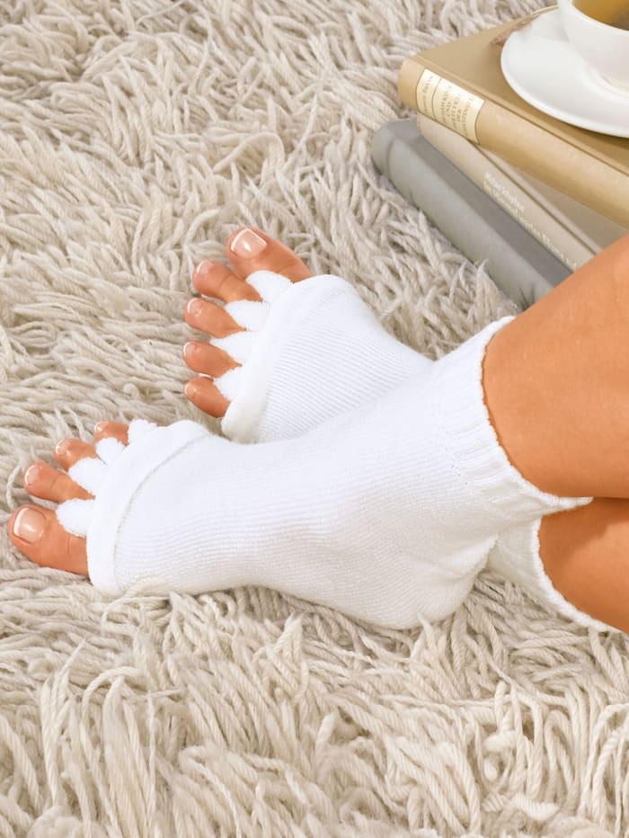 Maximex Chaussettes relaxantes, Blanc