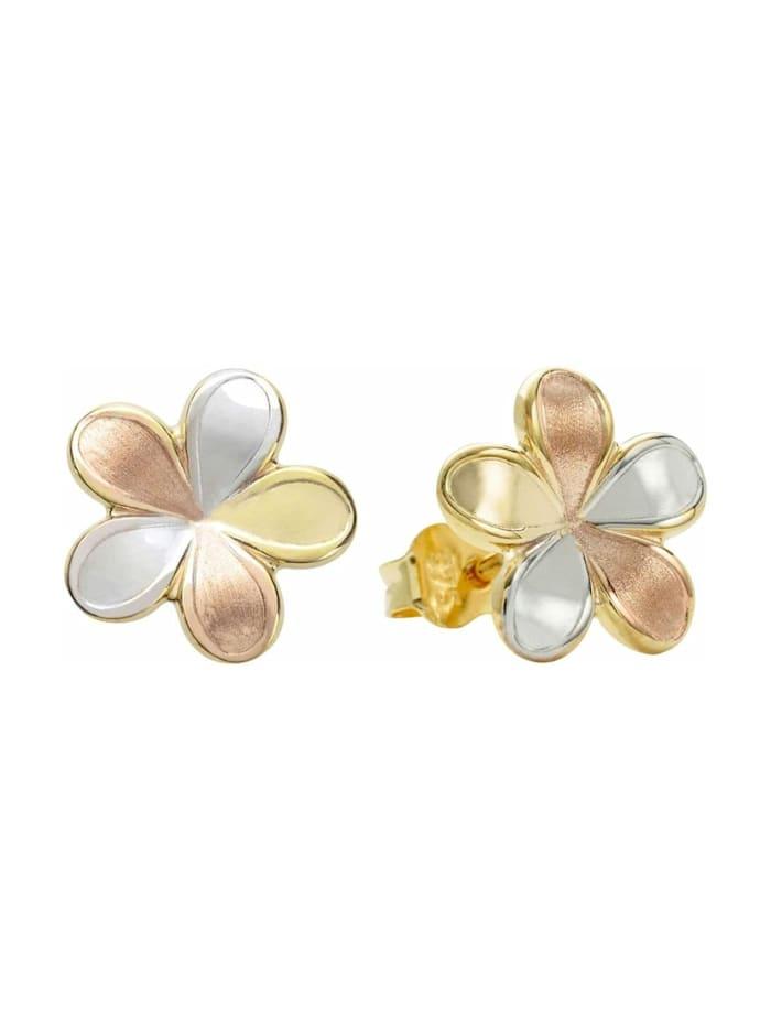 amor Ohrstecker für Damen, Gold 375, Blume, Gold