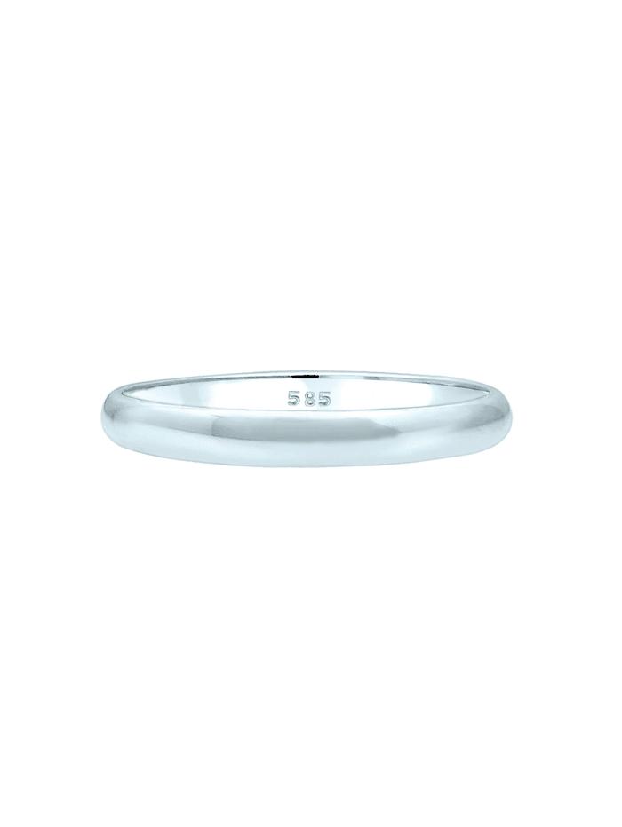 Ring Basic Bandring Hochzeit Trauring 585 Weißgold