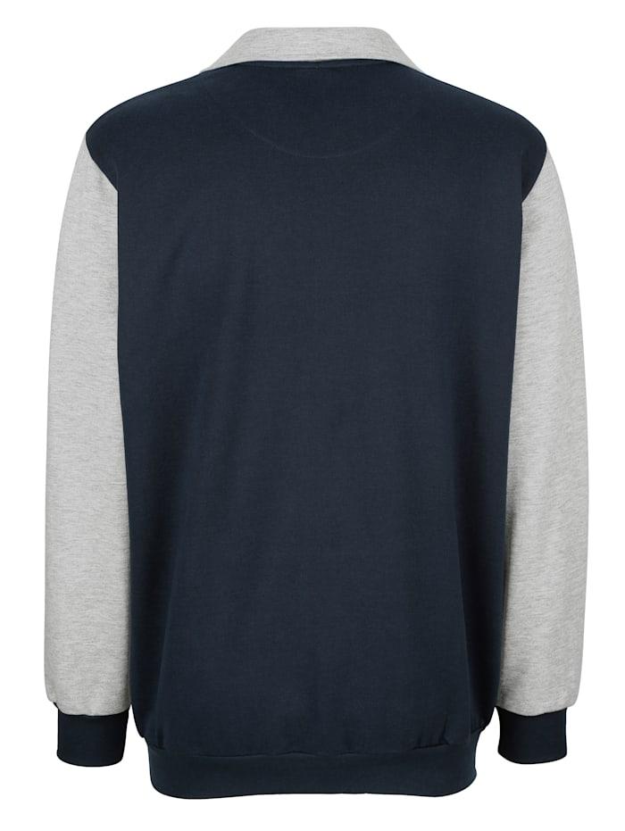 Sweatshirt med tryck och emblem