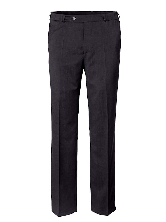 BABISTA Vlnené nohavice s o 7 cm dlhšou pásovkou, Čierna