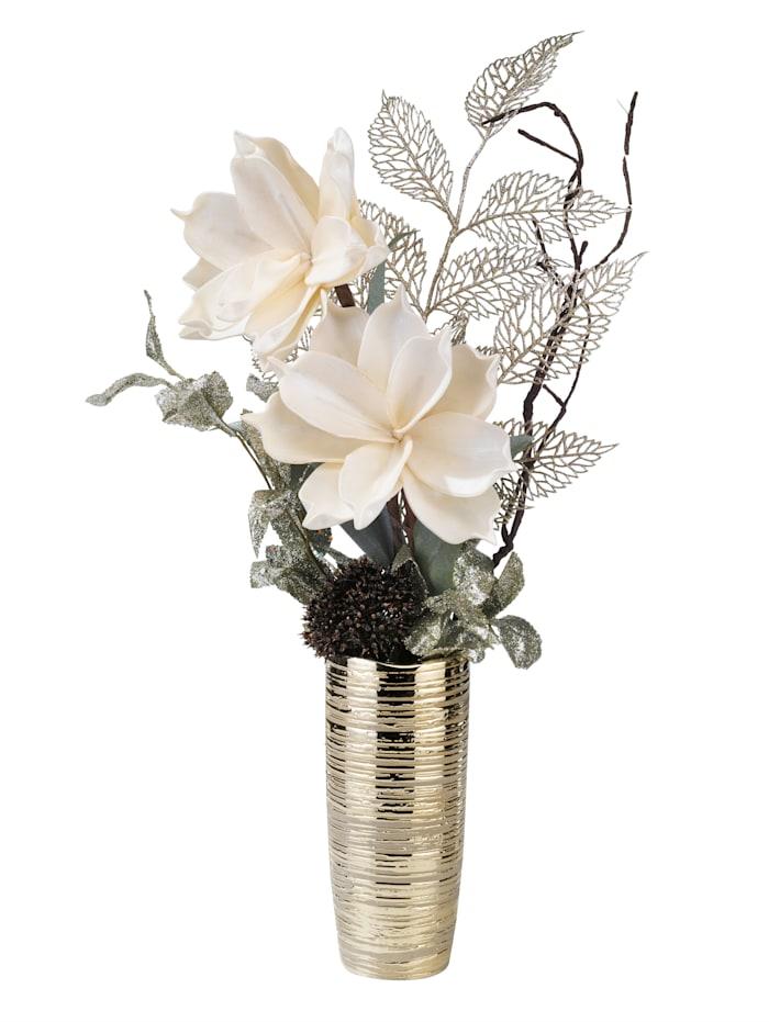 IGEA Arrangement floral Magnolia, Crème