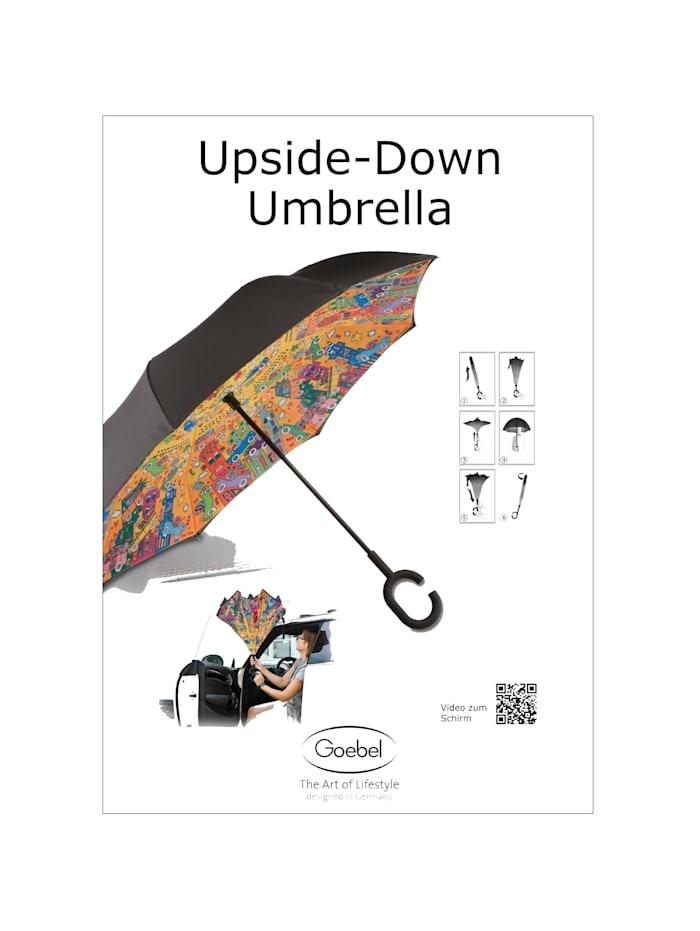 """Goebel Upside-Down Schirm Charles Fazzino - """"Berlin - New York"""""""