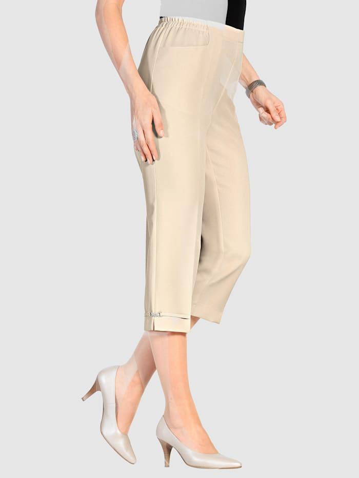 m. collection Pantalon 7/8 de coupe confortable, Beige