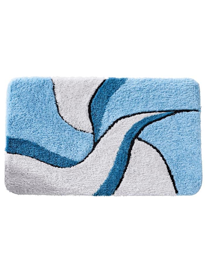 Webschatz Bademattenserie  'Aberdeen', blau