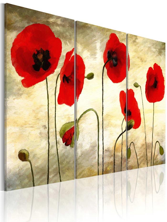 artgeist Wandbild Paper thin beauties, Beige,Grün,Grau,Rot
