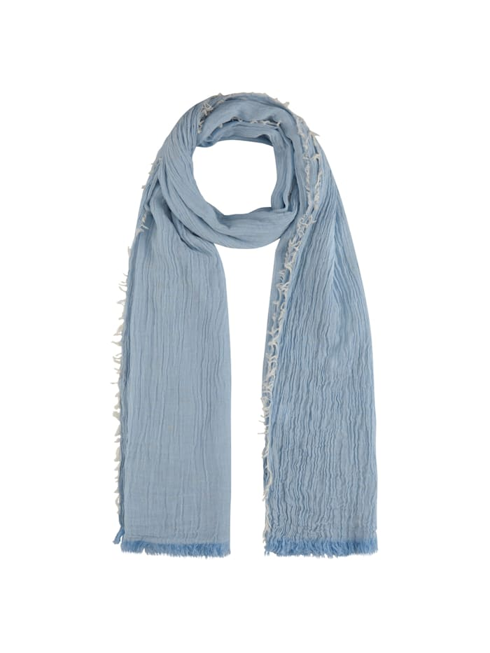 Codello Crinkle-Schal mit Glanzakzenten, light blue