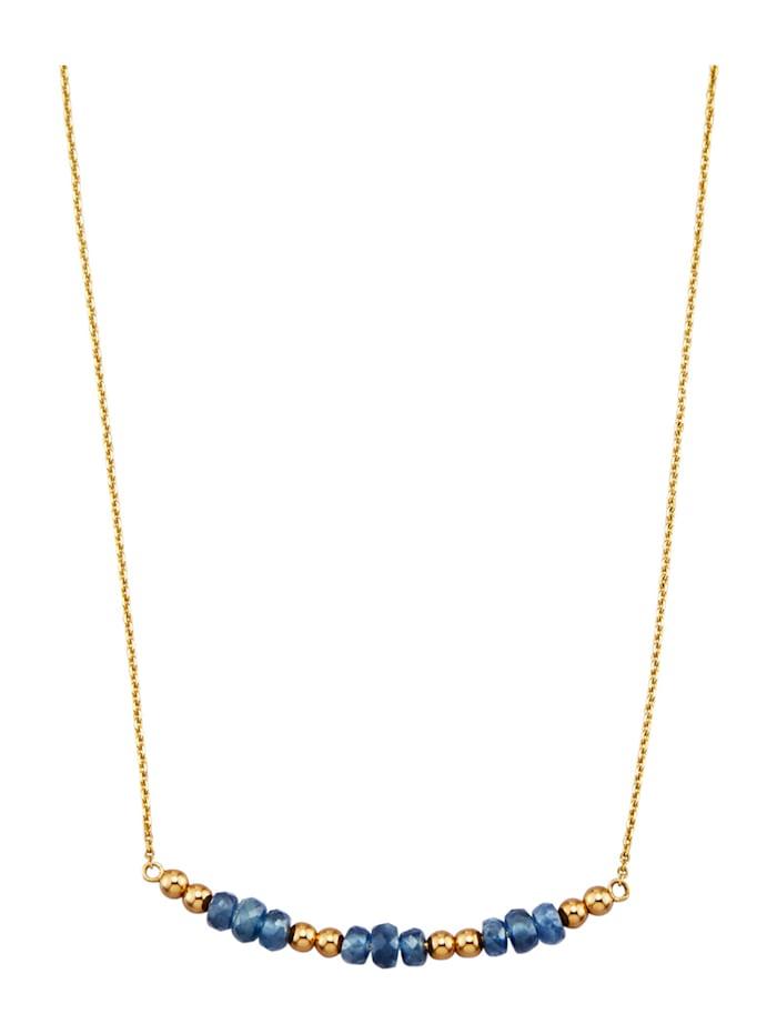 Halsband med safirer, Blå