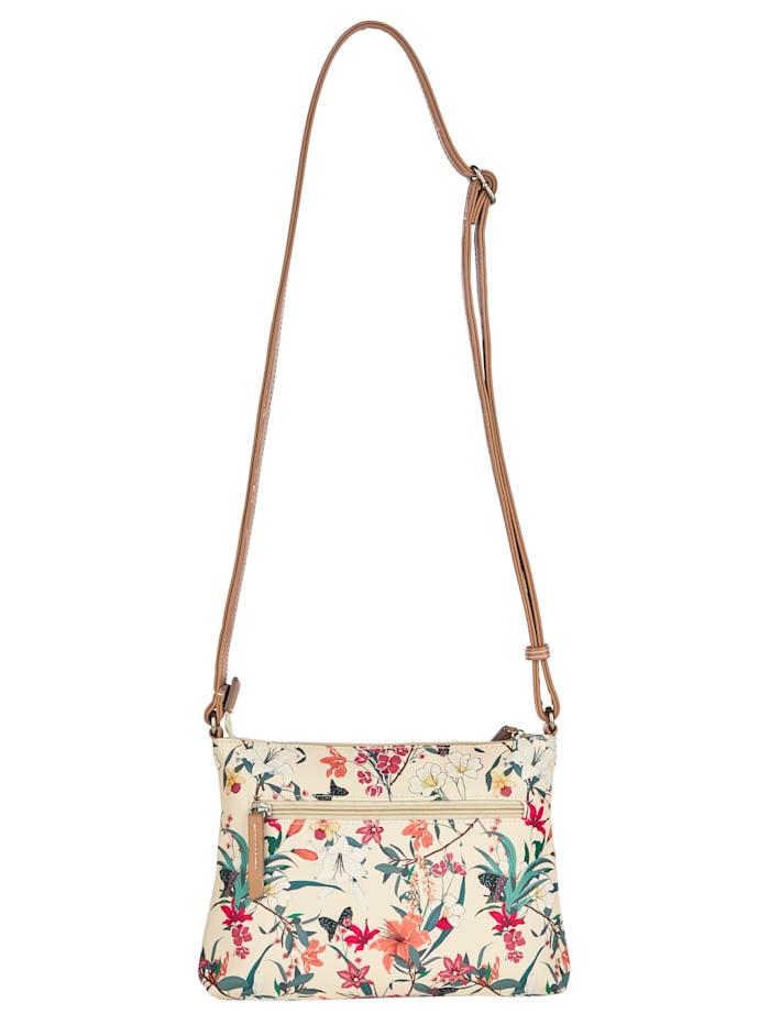 Shoulder bag with a gorgeous floral print