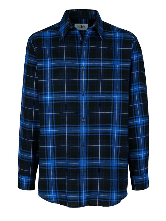 Roger Kent Overhemd met zachte touch, Marine/Royal blue