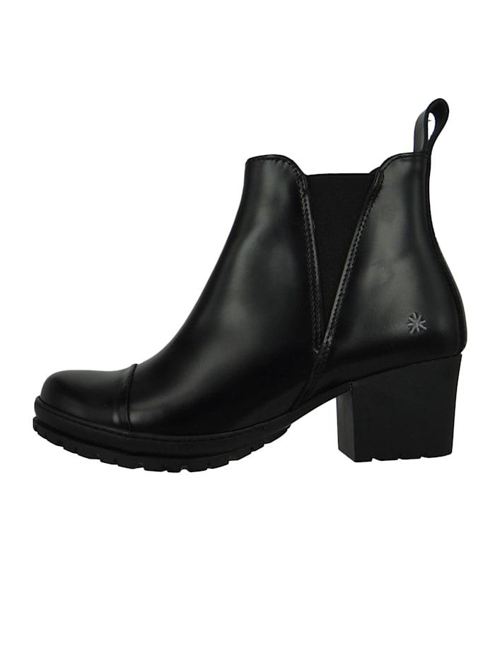 Damen Leder Stiefelette Ankle Boot Camden Black Schwarz 1233