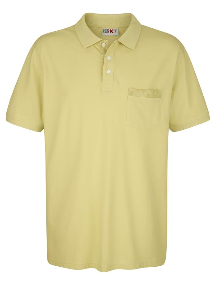 Roger Kent Poloshirt met paisleydessin, Limoengroen
