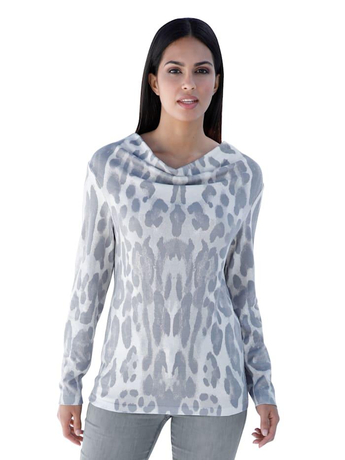 Leopardikuosillinen neulepusero