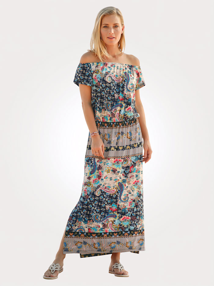 Jersey dress with a paisley print