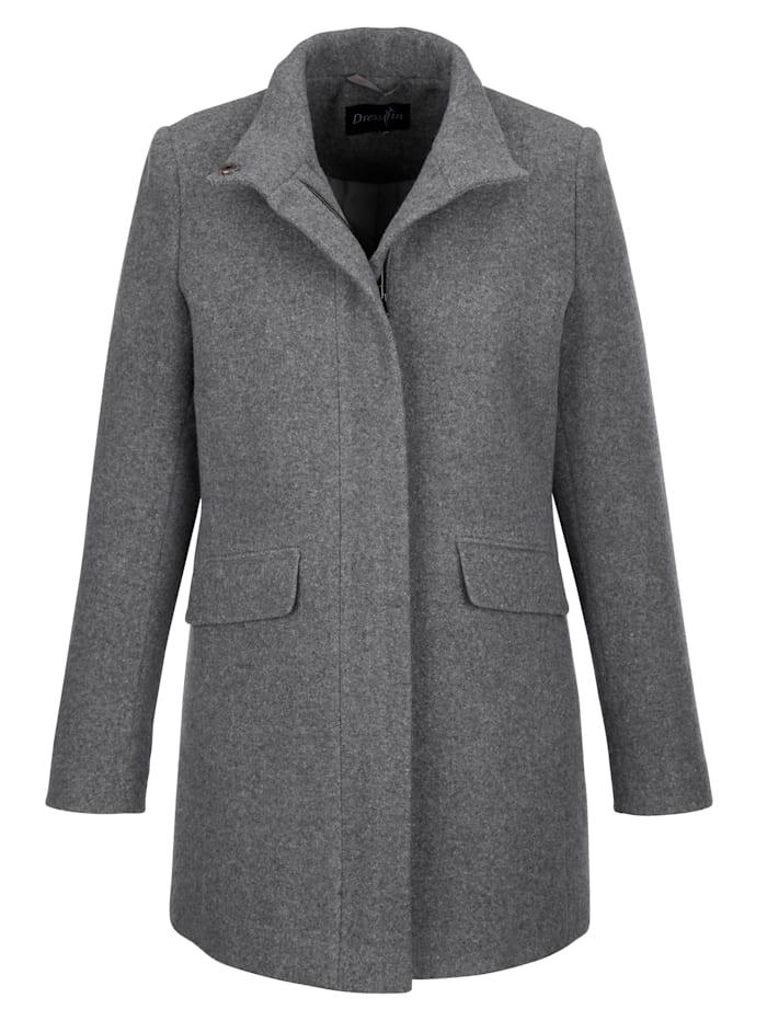 Dress In Wolljacke aus hochwertiger Qualität, Dunkelgrau/Grau