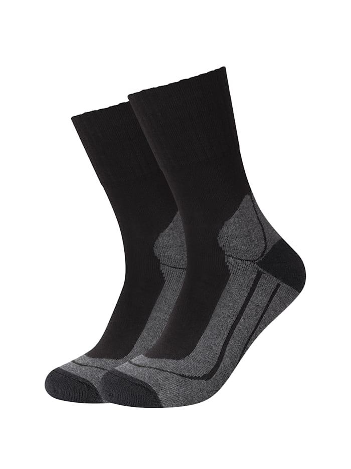 Camano Socken 2er Pack in dezentem Design, black