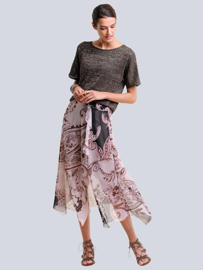 Sukňa s exkluzívnou Alba Moda potlačou
