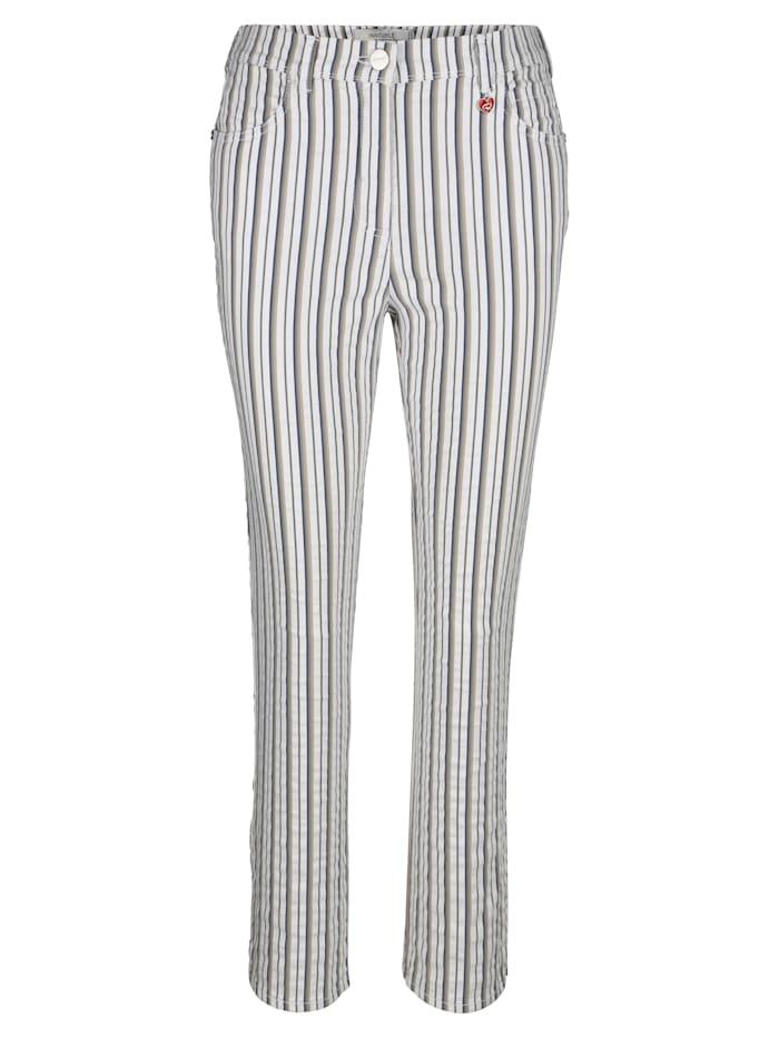 Pantalon 7/8 en seersucker