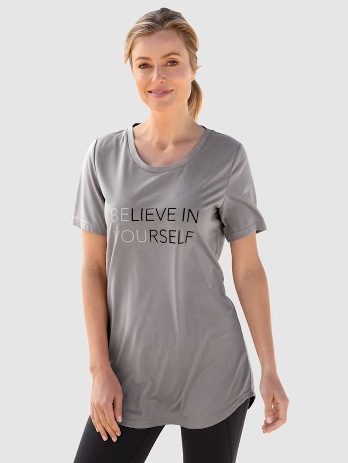 basically you Shirt mit Schriftzug, Grau
