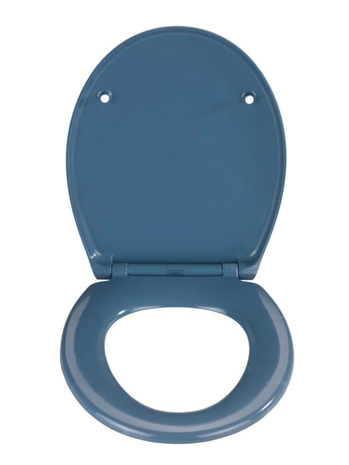 Premium WC-Sitz Samos Slate Blue, aus antibakteriellem Duroplast, mit Absenkautomatik