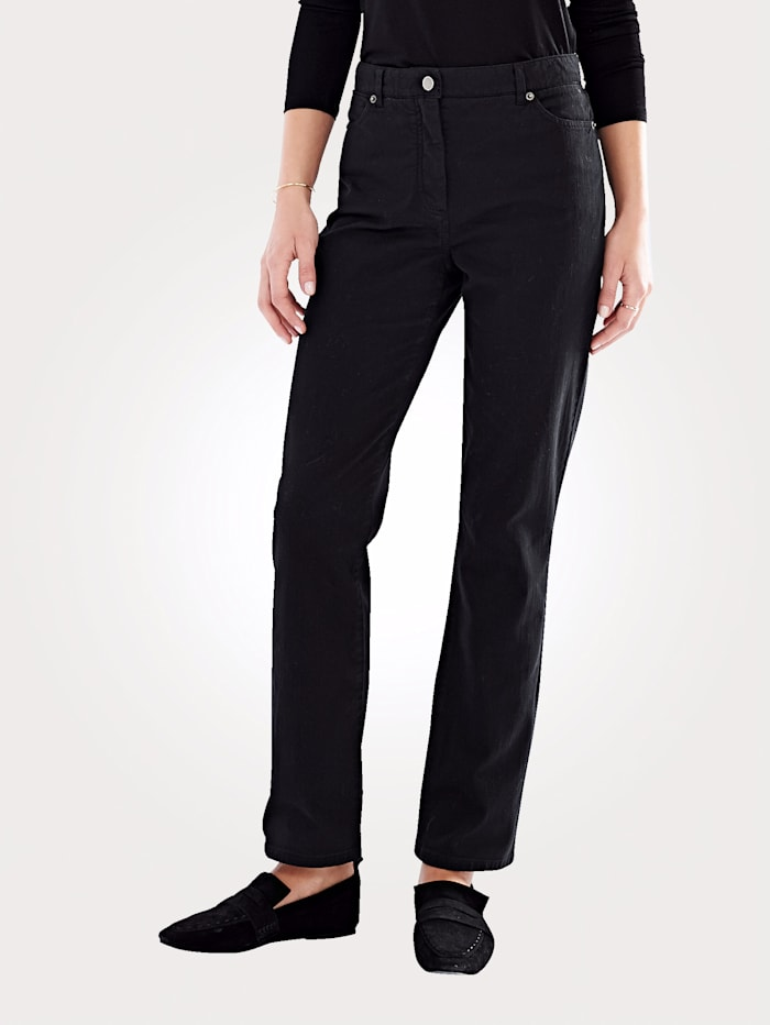 Artigiano Jeans im 4-Pocket Stil, Schwarz