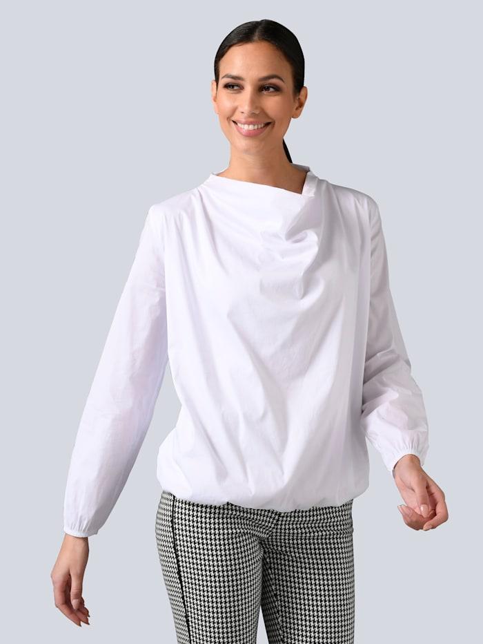 Alba Moda Bluse mit Voluminösem Vorderteil, Weiß