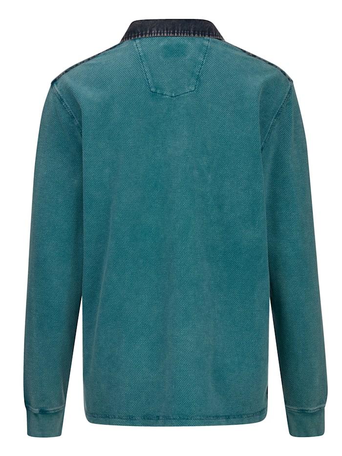 Sweatshirt med tvättade effekter