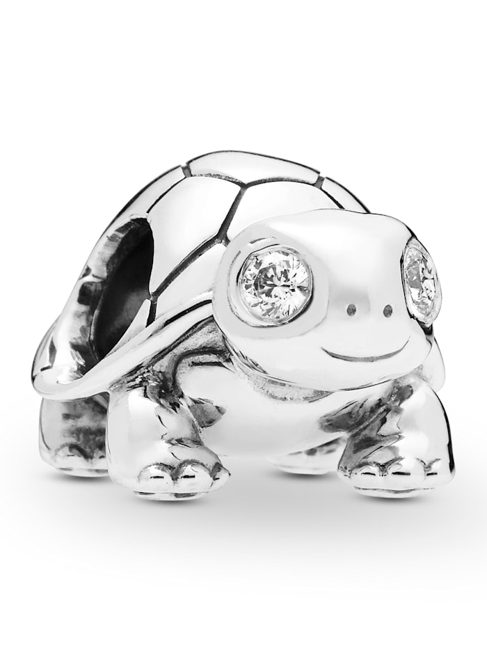 Pandora Charm -Helläugige Schildkröte- 797878CZ, Silberfarben