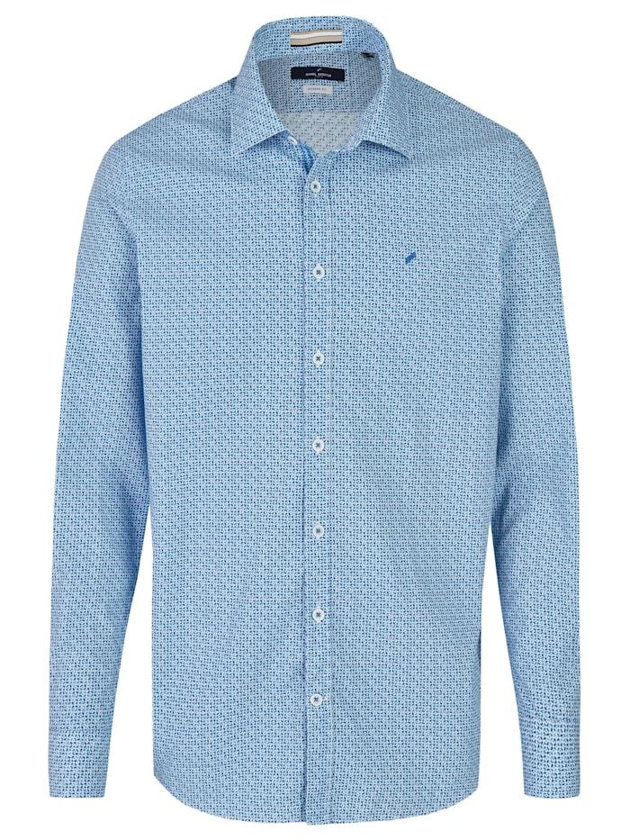 Daniel Hechter Hemd mit geometrischem Digitaldruck, sky blue