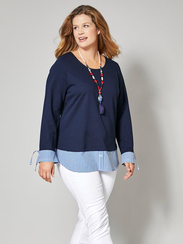 2in1-Sweatshirt aus reiner Baumwolle