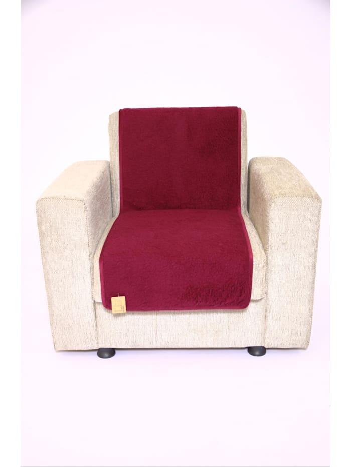 Linke Licardo Sesselschoner Sitzflächenschoner Wolle ca. 175 x 47 cm bordeaux, bordeaux