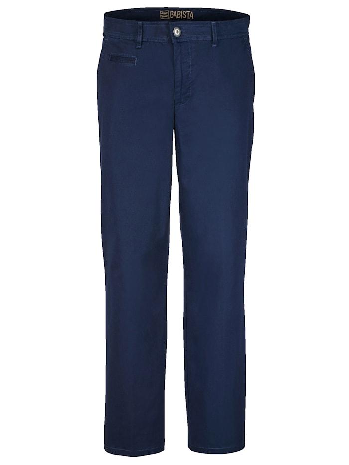 BABISTA Pantalon chino en coton PIMA, Bleu foncé