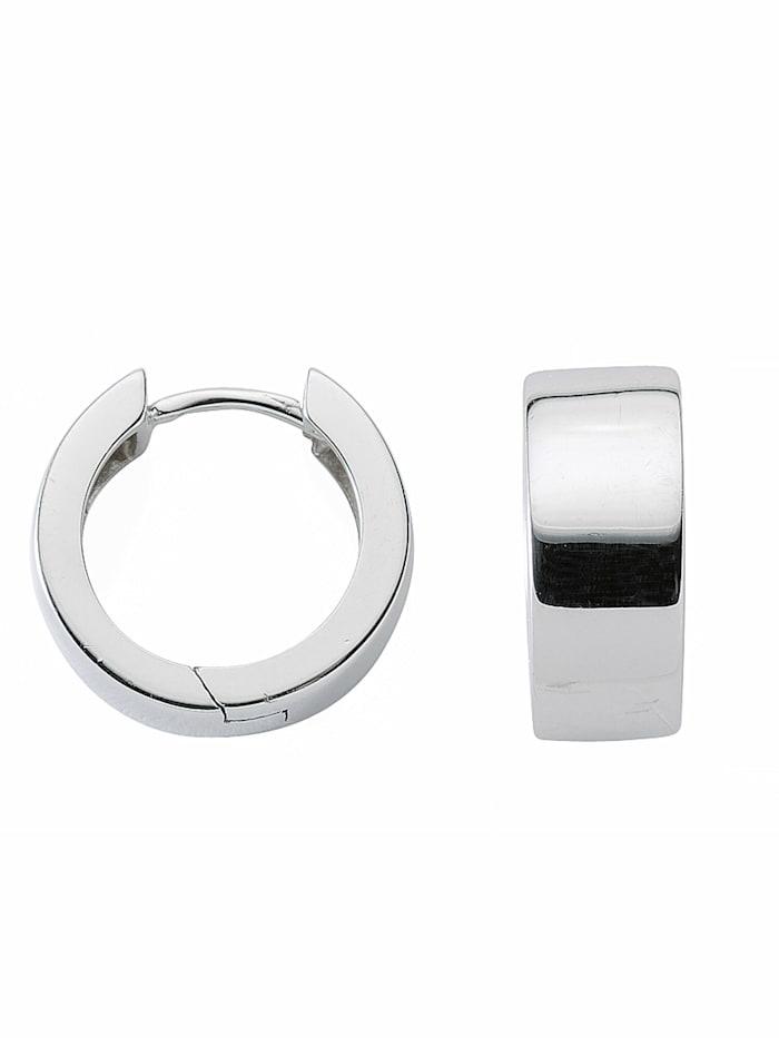1001 Diamonds 1001 Diamonds Damen Silberschmuck 925 Silber Ohrringe / Creolen Ø 16,5 mm, silber