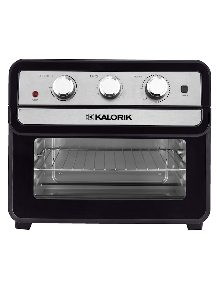 Kalorik Air-Fryer-Ofen TKG AFO 2000, XL-Fassungsvermögen 22 Liter, 10 Funktionen, Schwarz/Silberfarben