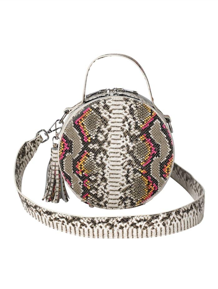 Handtasche in Schlangenoptik