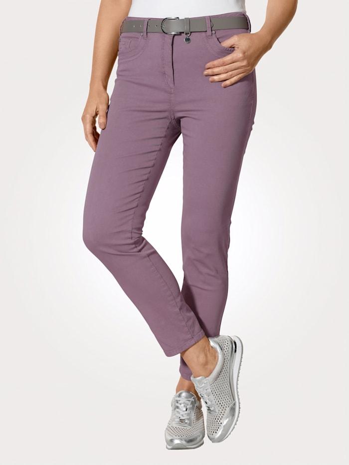 MONA Pantalon de coupe ajustée ultra tendance, Mauve