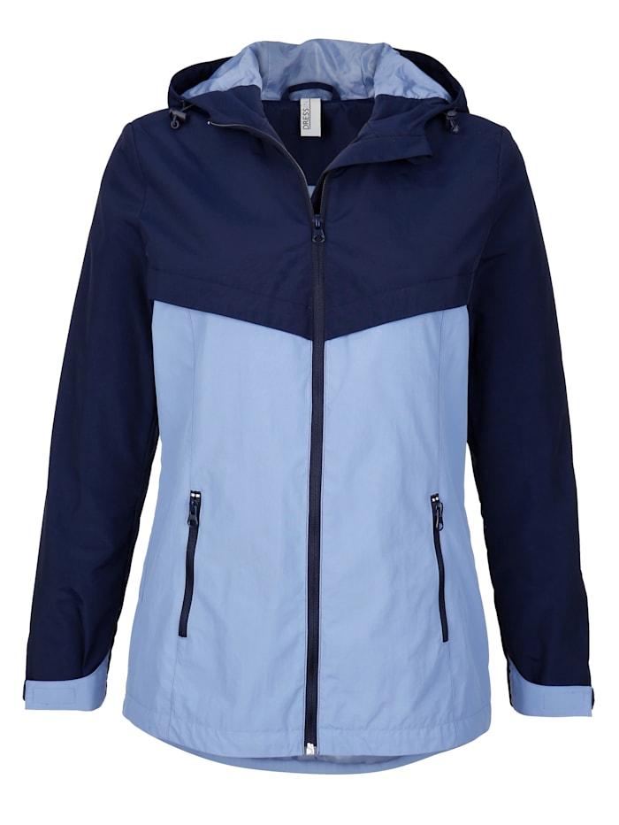 Dress In Jacke mit weitenverstellbarer Kapuze, Marineblau