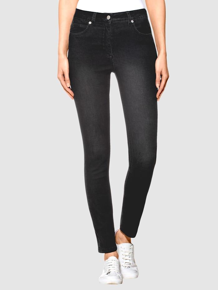 Alba Moda Jeans mit Push-Up-Effekt, Schwarz