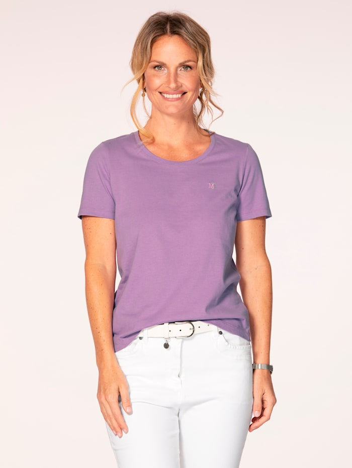 MONA Shirt aus Cotton made in Africa, Lavendel