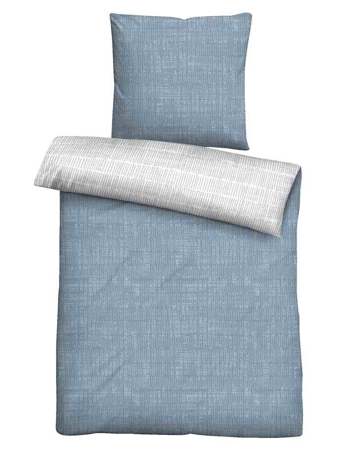 Castell Bäddserie i fintrådig flanell, Blå