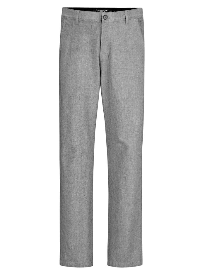 Men Plus Chino kalhoty Straight Fit, Bílá/Černá