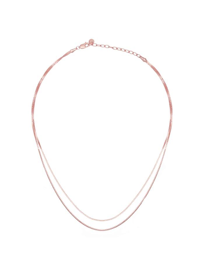 Collier 925/- Sterling Silber ohne Stein 45cm Glänzend