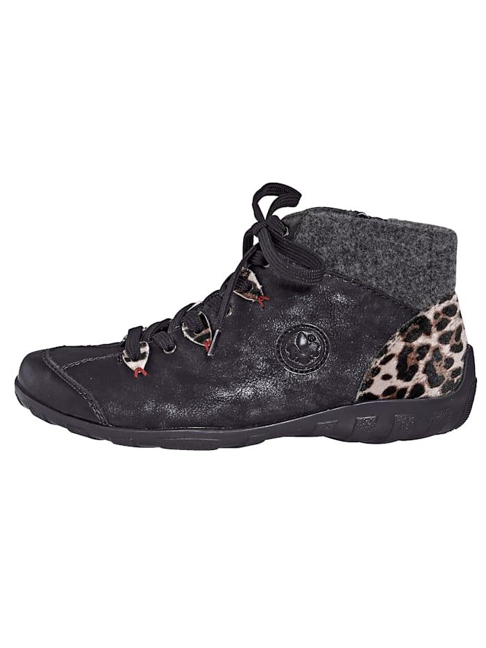 Šnurovacia obuv v rafinovanej farebnej kombinácii