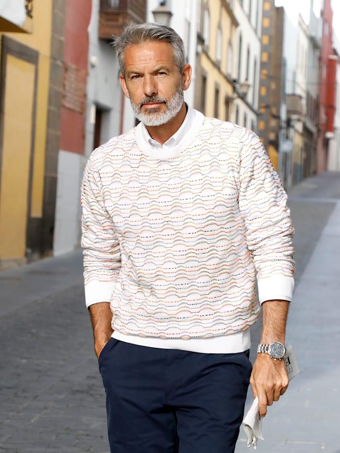 Pullover mit Jacquard-Muster mit 3D-Effekt
