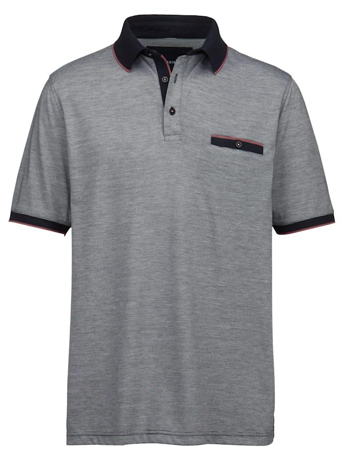 BABISTA Poloshirt in mooie gemêleerde look, Marine/Roze