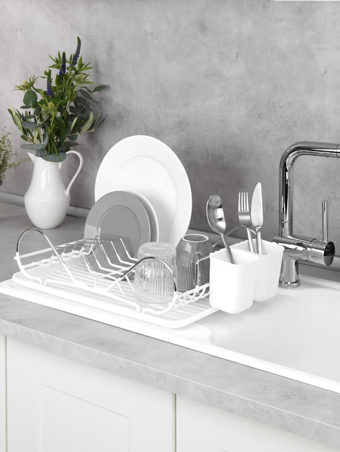 Diskställ – Clean, vit/silverfärgad