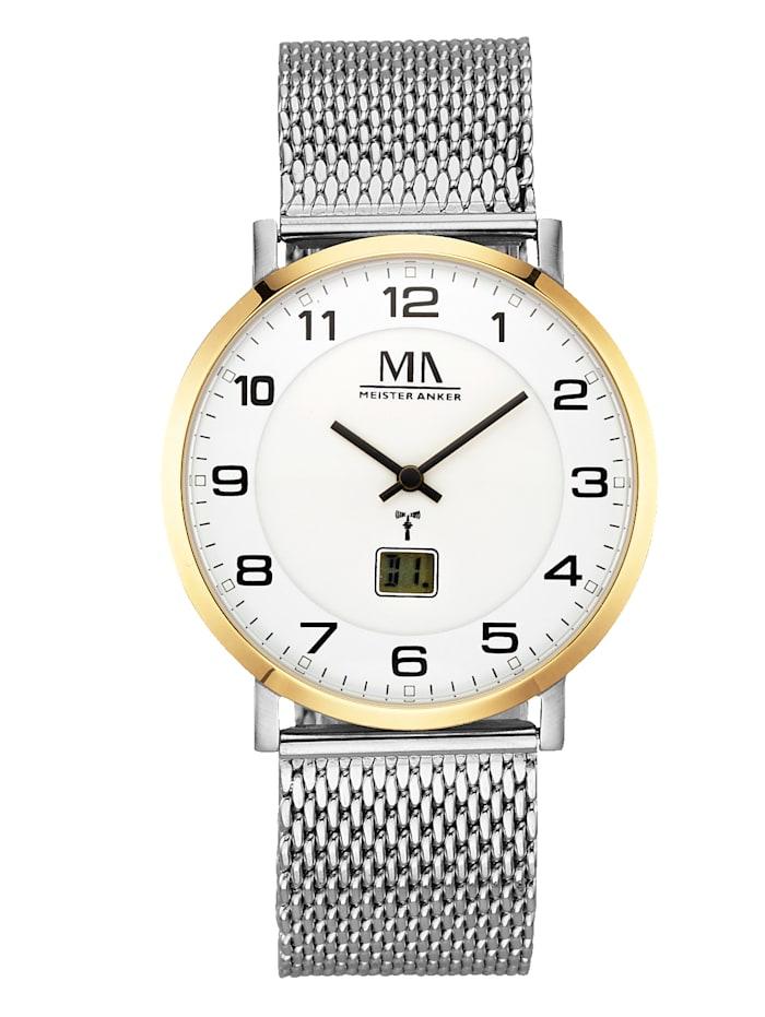 Meister Anker Milanaiserannekkeellinen miesten kello, Hopeanharmaa