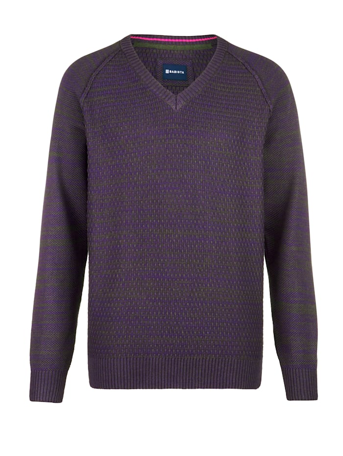 BABISTA Pull-over à manches raglan, Baies/Anthracite